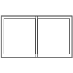 Picture of 3600mm Wide Full Pane Slider LHF