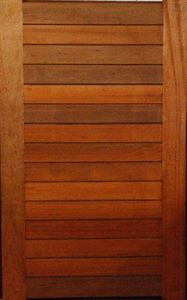 Horizontal Slatted Meranti Pivot Door 1500 X 2400