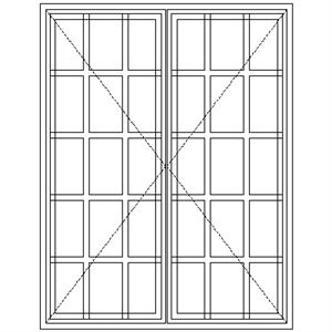 Picture of SD57 Strongwood Security Window 1155W X 1490H