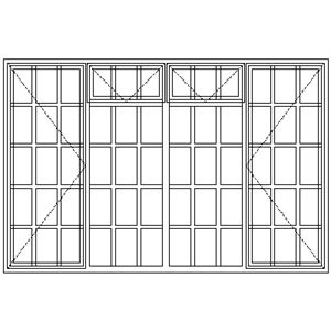 Picture of SD522F Strongwood Security Window 2265W X 1490H