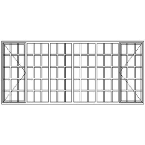 Picture of SD522108 Strongwood Security Window 3375W X 1490H