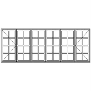Picture of WD22108 Small Pane 3209W X 1183H