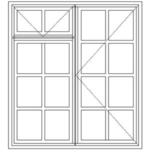 Picture of BD2F Small Pane 1114W X 1195H
