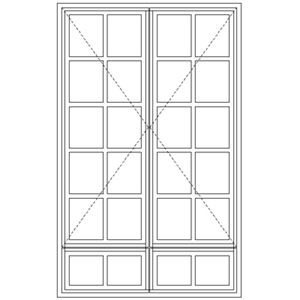 Picture of LND57/G Small Pane 1103W X 1765H