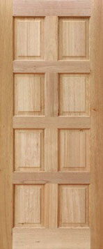 Picture of 8 Panel Meranti 813 X 2032 ... & 8 Panel Meranti Door | Exterior Doors | Exterior Meranti Doors ...