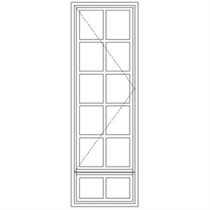Picture of LND51/G Small Pane 579W X 1735H