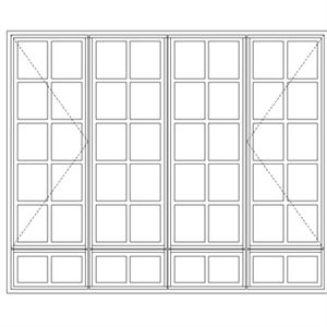 Picture of LND522/G Small Pane 2184W x 1735H