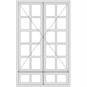 Picture of LND57/G Small Pane 1114W X 1735H