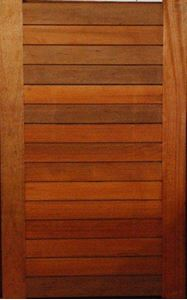 Picture of Horizontal Slatted Pivot Door Pre-Hung in frame 1500 X 2400
