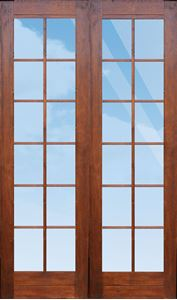 Picture of Pair 1210 Small Pane French Doors