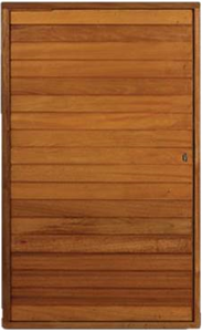 Picture of Semi Solid Horizontal Slatted Pivot Door Pre-Hung in Frame 1500 X 2032