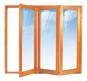 Picture of 1902mm 3 Door Full Pane Folding Unit RHS