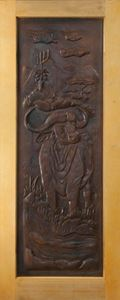 Picture of Buffalo Carved Door 813 X 2032