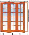 Picture of 1902mm 3 Door Small Pane Folding Unit LHS