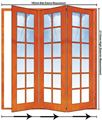 Picture of 1902mm 3 Door Small Pane Folding Unit RHS