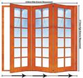 Picture of 2358mm 3 Door Small Pane Folding Unit RHS