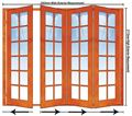 Picture of 2503mm 4 Door Small Pane Folding Unit RHS
