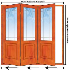 Picture of 1902mm 3 Door Happy Door Folding Unit LHS