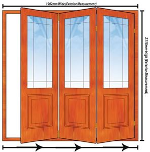 Picture of 1902mm 3 Door Happy Door Folding Unit RHS