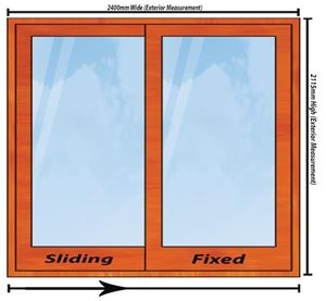 Picture of 2400mm Wide Full Pane Slider RHF