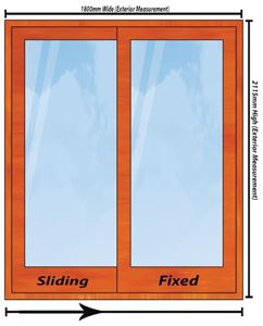 Picture of 1800mm Wide Full Pane Slider RHF