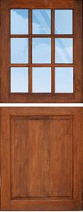 Picture of Cottage Pane Top Solid Bottom Stable