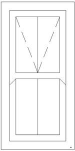 Picture of 600W X 1200H Victorian Mock Sash Window