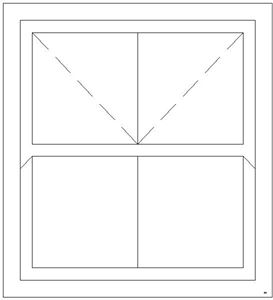 Picture of 1200W X 1200H Victorian Mock Sash Window