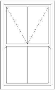 Picture of 1200W X 1800H Victorian Mock Sash Window
