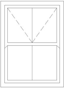 Picture of 1500W X 1500H Victorian Mock Sash Window