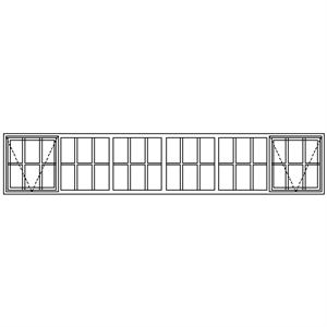 Picture of SE22108 Strongwood Security Window 3375W X 635H