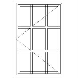 Picture of SC1 Strongwood Security Window 600W X 920H