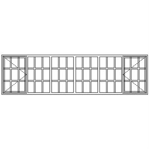 Picture of SC22108 Strongwood Security Window 3375W X 920H