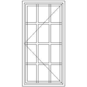 Picture of SD1 Strongwood Security Window 600W X 1205H