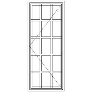 Picture of SD51 Strongwood Security Window 600W X 1490H