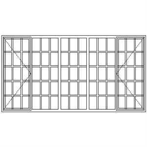 Picture of SD5229 Strongwood Security Window 2820W X 1490H