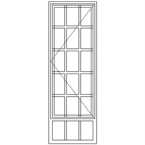 Picture of SD51/G Strongwood Security Window 600W X 1775H