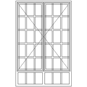 Picture of SD57/G Strongwood Security Window 1155W X 1775H