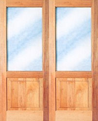 Picture of Full Pane Top Solid Bottom French Doors 1613 X 2032