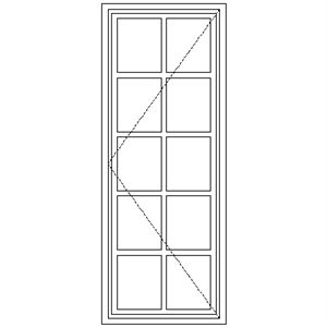 Picture of BD51 Small Pane 574W X 1490H