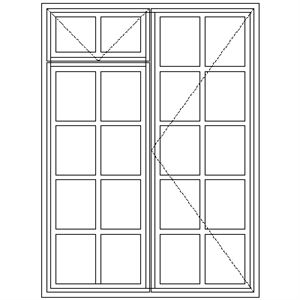 Picture of BD52F Small Pane 1103W x 1490H
