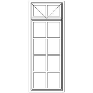 Picture of BD55F Small Pane 574W X 1490H