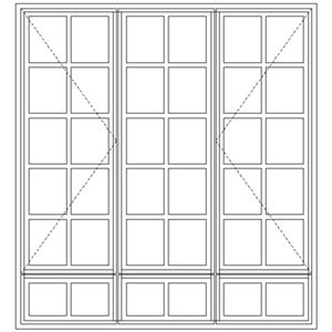 Picture of LND54/G Small Pane 1632W X 1765H