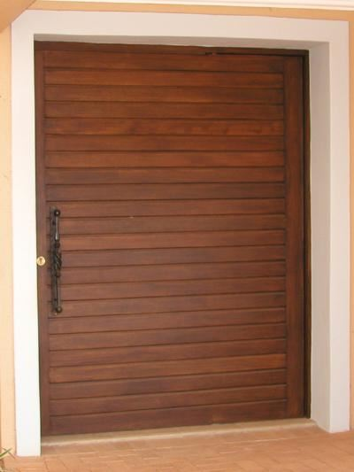 Picture of Horizontal Slatted Pivot Door Pre-Hung in frame 1500 X 2032