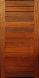 Picture of Horizontal Slatted Door Pre-Hung in frame 1200 X 2400