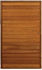 Picture of Semi Solid Horizontal Slatted Pivot Door Pre-Hung in Frame 1200 X 2032
