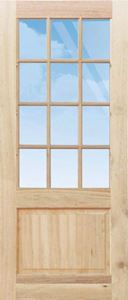 Picture of Small Pane Top Solid Bottom 813 X 2032
