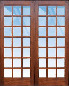 Picture of Pair 1613 Strongwood Security Doors