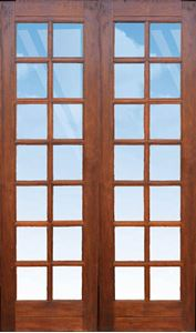Picture of Pair 1210 Strongwood Security Doors