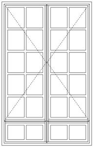 Picture of BD57/G Small Pane 1103W X 1765H